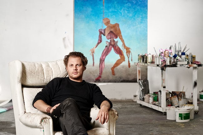 Andreas Golder, painter, maler, artist, berlin, saskia uppenkamp, photographer, Fotografin