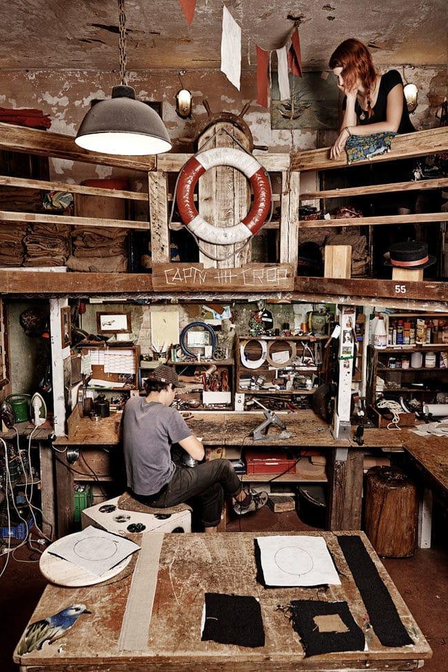 Captn' Crop, hatmaker, reportage, berlin, hutmacher, handwerk, photographer, saskia uppenkamp, portrait, fotograf