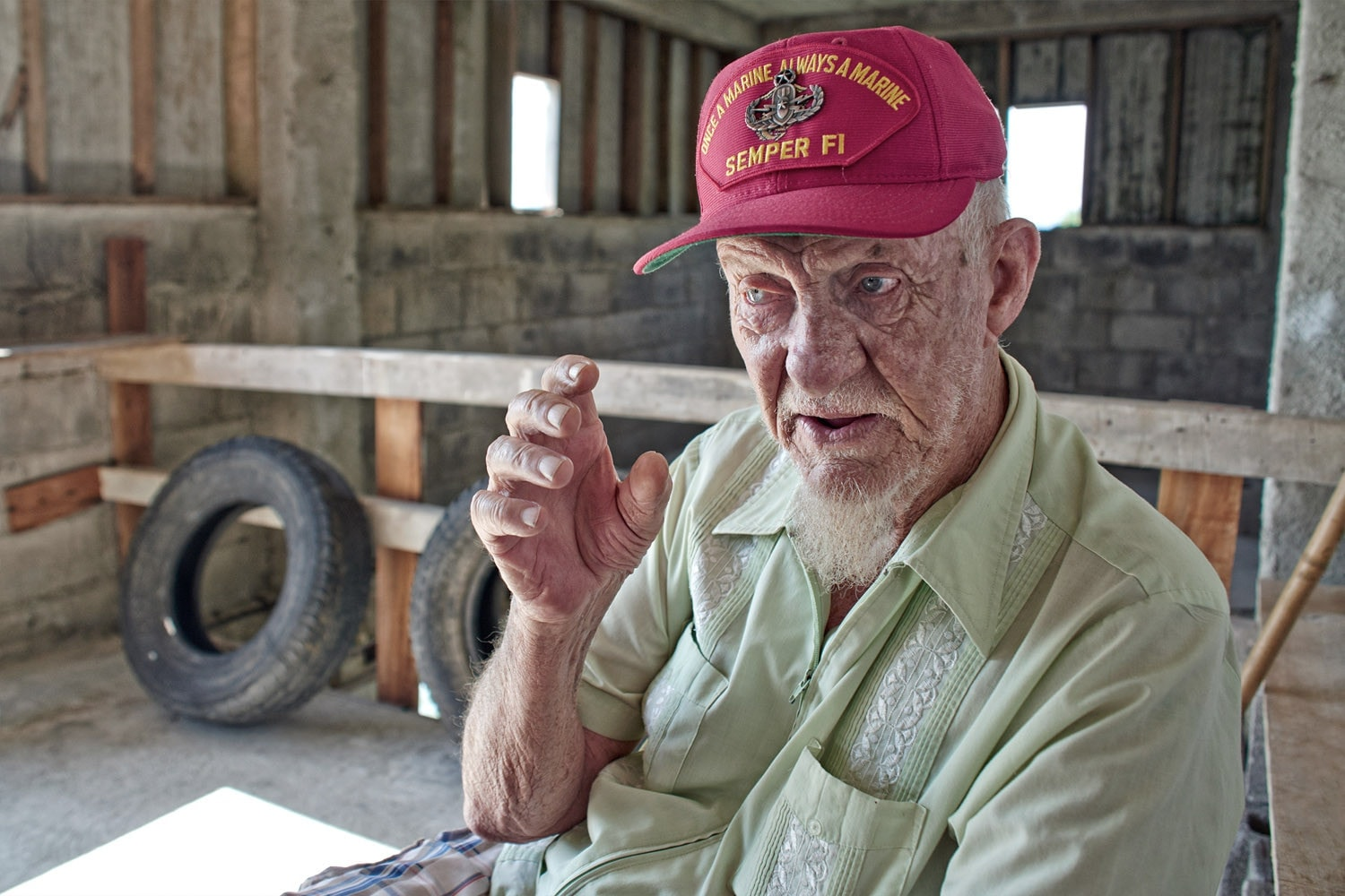 veteran, vietnam, gunny, portrait, travel, costa rica, old, story, saskia uppenkamp, photographer, fotografie, portrait