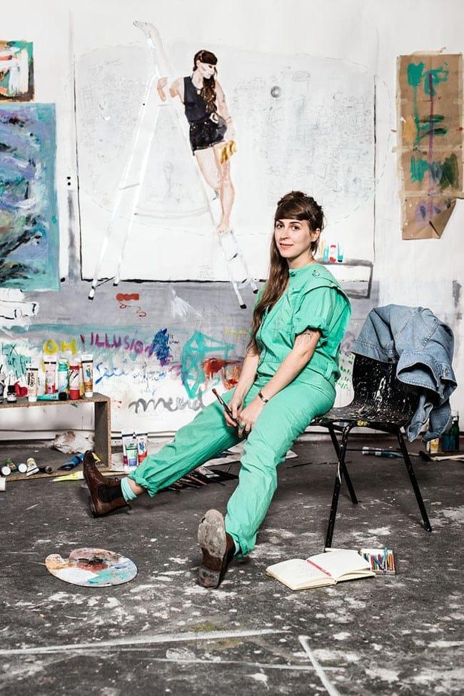 Berlin, Artist, Illustration, Photography, saskia uppenkamp, portrait, studio, künstler