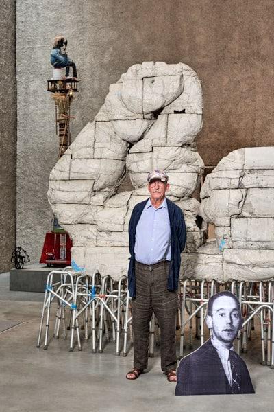 Kasper Koenig; Kasper König; Galerie König; St.Agnes; Kurator; 2019; Johann König; Kunstprofessor; Ausstellung; Saskia Uppenkamp; photographer; portrait; Berlin; Fotograf